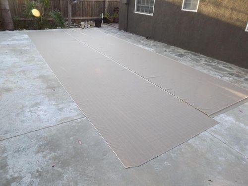Waterproof spray fabric